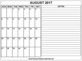 Free Printable Calendars August 2017 Com