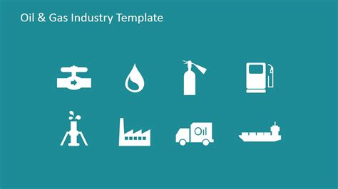 flat icons  oil  gas industry  powerpoint slidemodel