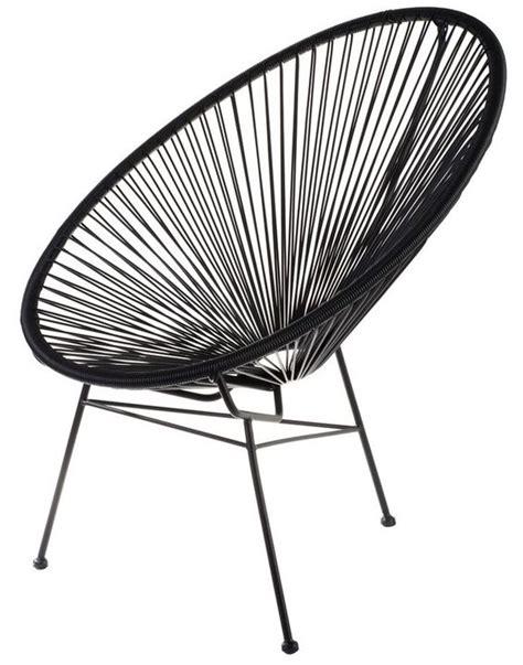 chaise scoubidou fauteuil acapulco scoubidou noir la chaise longue home