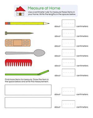 measurement practice centimeters worksheet education com