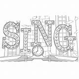 Sing Coloring Pages Theater Para Colorir Filme Desenhos Printable Sheet Sign Movies Colouring Sheets Title Books Characters Film Lighted Voor sketch template