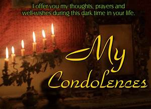 Card For Condolences A Condolence Card For The Departed Free Sympathy