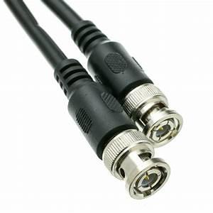 50ft Black Bnc Rg59  U Coaxial Cable  Bnc Male