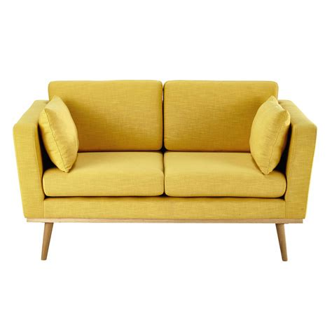 canapé jaune ikea 2 seater fabric sofa in yellow timeo maisons du monde