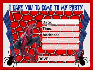 Birthday Invitation Free Printable Spiderman | Spiderman ...