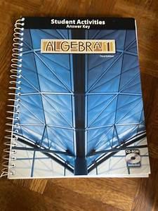 Algebra 1 3rd Edition Student Activities Manual Answer Key