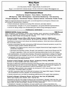famous sample resume chief financial officer position With cfo resume template