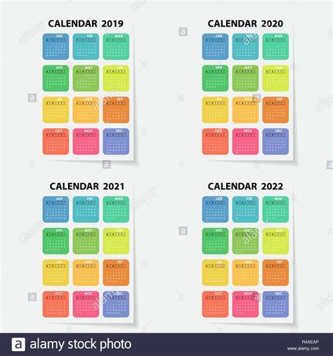 simple year calendar stock simple year calendar