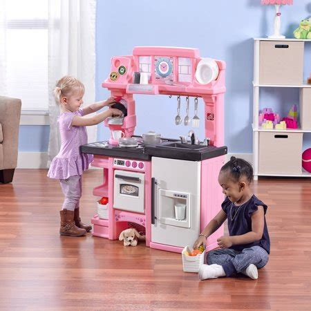 step coffee time kitchen includes  piece cook set pink