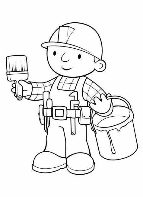Builder Free by Free Printable Bob The Builder Coloring Pages For