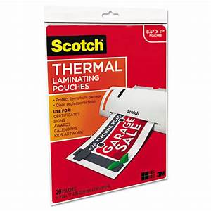 mmmtp385420 scotch letter size thermal laminating pouches With thermal laminating pouches letter size