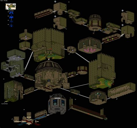 A 3d Map Of The Forest Temple From Ocarina Of Time Zelda