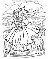 Shepherd Coloring Bible Jesus Parable Drawing Sheep Parables Printables Crafts Lost Lamb Clipart Sunday Getdrawings Clip Lord Lessons Luke God sketch template