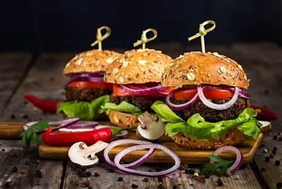Burger Gourmet 4k Harvest Onion Hamburgers Appetizing