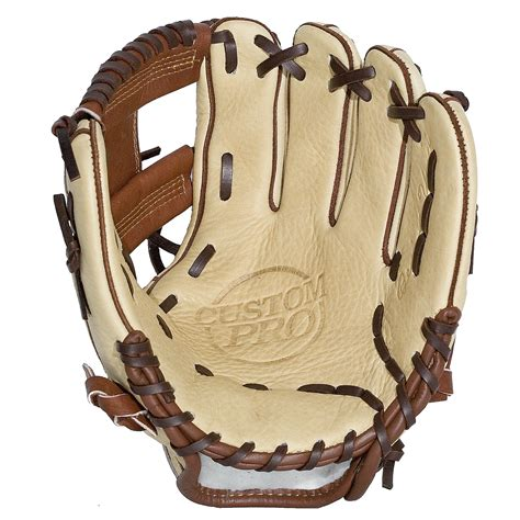 11.5 inch Baseball glove:JV20 Cream and Dark Brown I Web ...