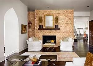 Mur Brique Salon : d coration salon mur de brique ~ Zukunftsfamilie.com Idées de Décoration