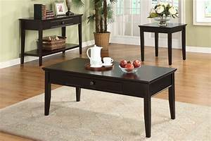 3pc middleton dark cherry solid wood felt lined drawer With real wood coffee table sets