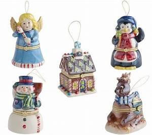 Mr Christmas Set of 5 Porcelain Music Box Ornaments