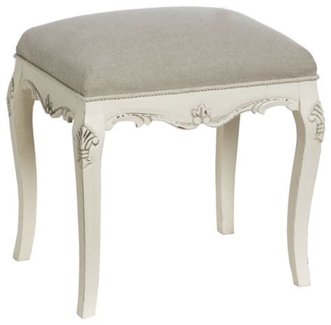 Shabby Chic Vanity Stool by Country Dressing Table Bench Traditional Vanity