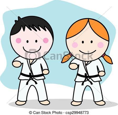 Ilustraciones vectoriales de karate, niños csp29948773 ...