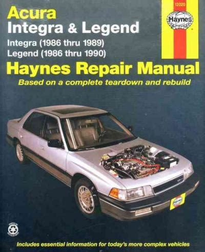 Acura Integra Legend Haynes Service Repair
