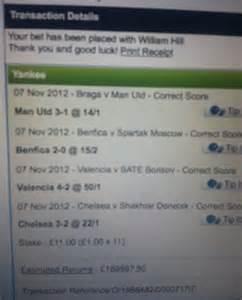 Gambler wins £190k after £11 Champions League bet | Daily ...