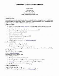 Entry level financial analyst resume free resume templates for Entry level finance resume