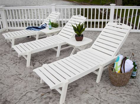 chaise polypropylene polywood nautical recycled plastic stackable chaise