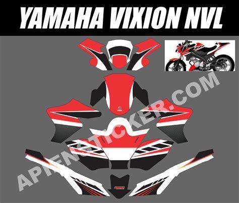 Modigilasi Motor Neww Vixion Merah by Striping Motor Vixion Nvl Merah Putih Apien Sticker