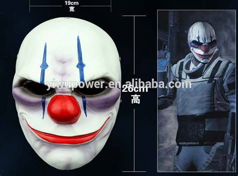 Payday 2 Halloween Masks 2015 payday 2 scary clown mask halloween party mask 2015