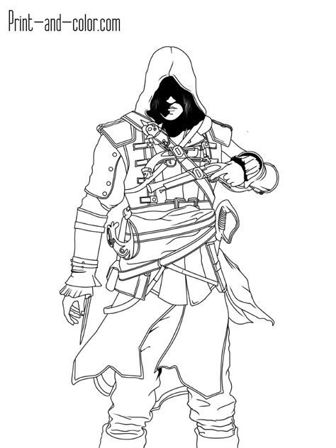 assassins creed coloring pages print  colorcom