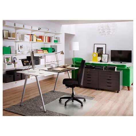 bureau armoire ikea thyge desk white silver colour 160x80 cm ikea