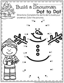 preschool worksheets january by planning playtime tpt