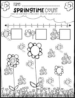spring math and literacy printables and worksheets for pre k and kindergarten blog literacy