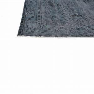 bleu fonce vintage tapis recolores 287x164cm With tapis bleu foncé