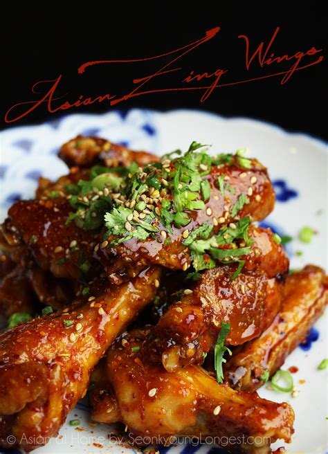 asian zing wings recipe video seonkyoung longest