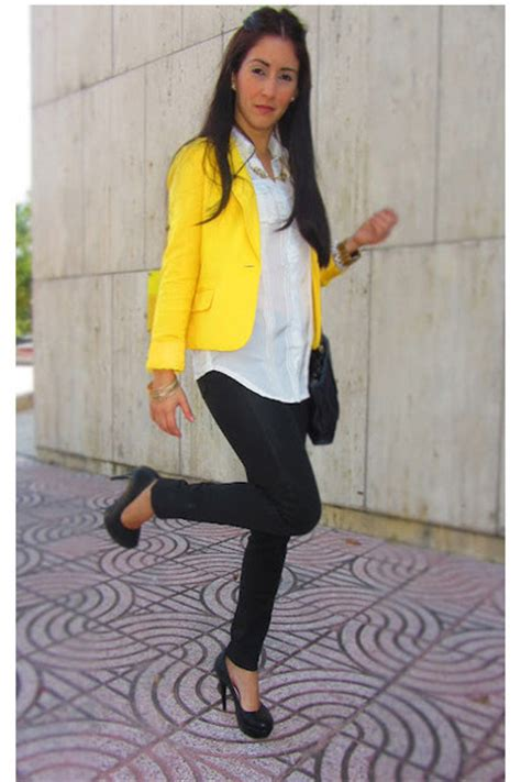 Yellow Forever 21 Blazers Black Citizens Of Humanity Pants | u0026quot;Kim Kardashian inspired outfit ...