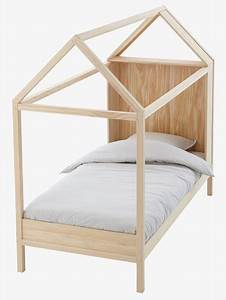 Lit Cabane Pour Enfant : lit cabane en bois bois vertbaudet ~ Teatrodelosmanantiales.com Idées de Décoration