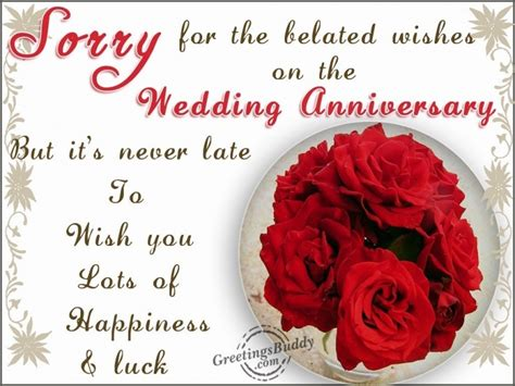 Belated Wedding Anniversary Wishes Quotes