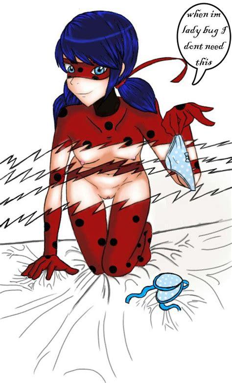 rule 34 1girl blue hair bodysuit bra breasts female kneeling ladybug character marinette