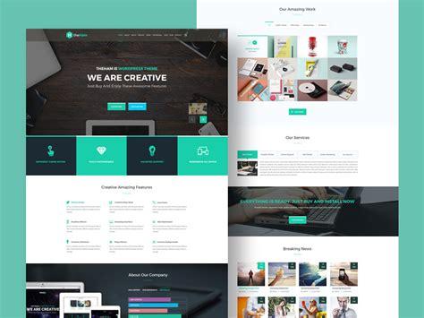 web design landing page creative landing page template freebie