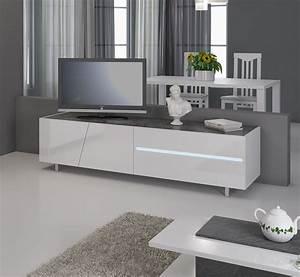 meuble tv design lizea zd1 m tv 047jpg With meuble d entree chaussures 8 miroir design blanc lizea zd1 jpg