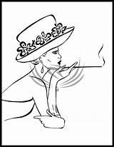 Hat Drawing Deviantart Painting Drawings Fabric Tekenen Kunst Doodle Stencil Wayne Line John Retro Mensen Gezichten Tekeningen Aluminiumfolie Kleurboeken Lijntekeningen sketch template