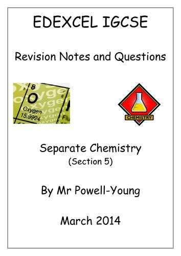 igcse chemistry revision booklets  images