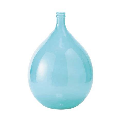 skadi glass carboy vase  blue  cm maisons du monde