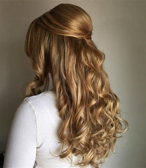 Wavy Half Updo Hairstyles by Formal Half Up Hairstyles Hair