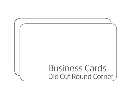 Ready-made-die-cut-shaped-business-card-2-corners Business Card Making Kit Maker Montreal Attire And Casual Women Quotes To Customers Positive Knowledge Men Winter