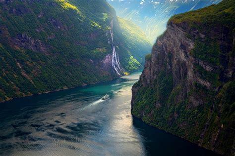 photography, Nature, Landscape, Mountains, Ship, Fjord ...