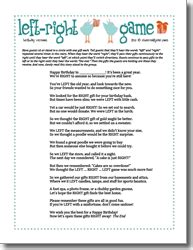 left right across gift exchange story left right birthday printable for the home printable