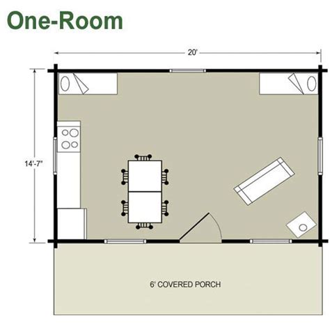 one room cabin floor plans one room guest house plans home deco plans